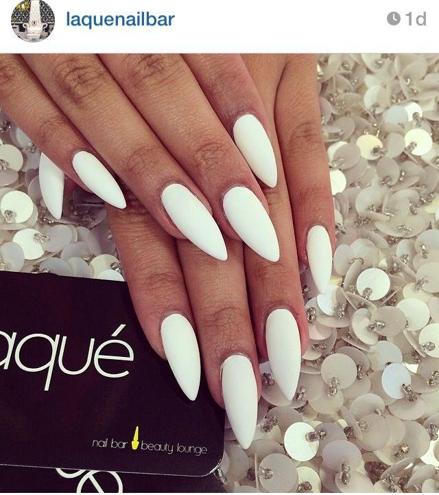 White stiletto nails @laquenanailbar | Nails | Pinterest | White ...