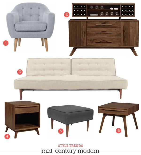 Mad Men Style Mid Century Modern Furniture Living Room