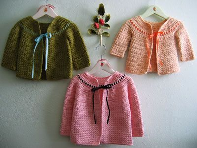 Puff Stitch Crochet Childs Cardigan Hat Bunny Hop Baby Or