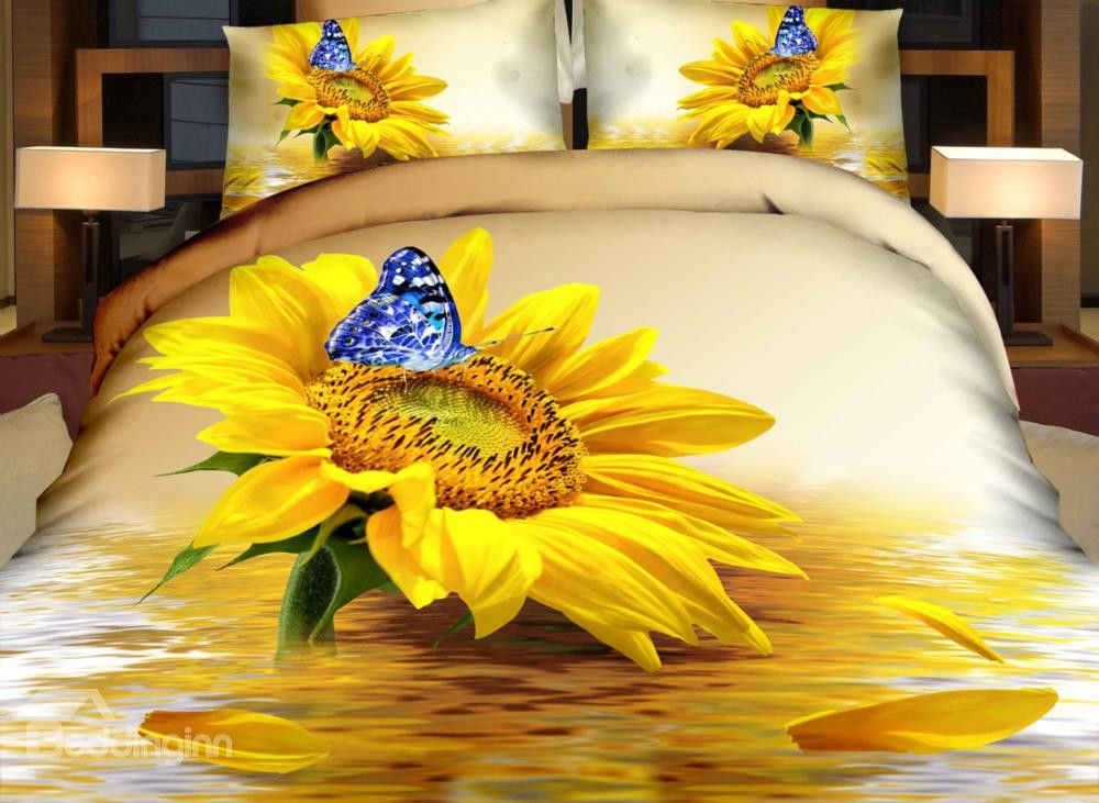 Sonnenblume.....günstig 3D Bettwäsche Sonnenblume billig gut ...