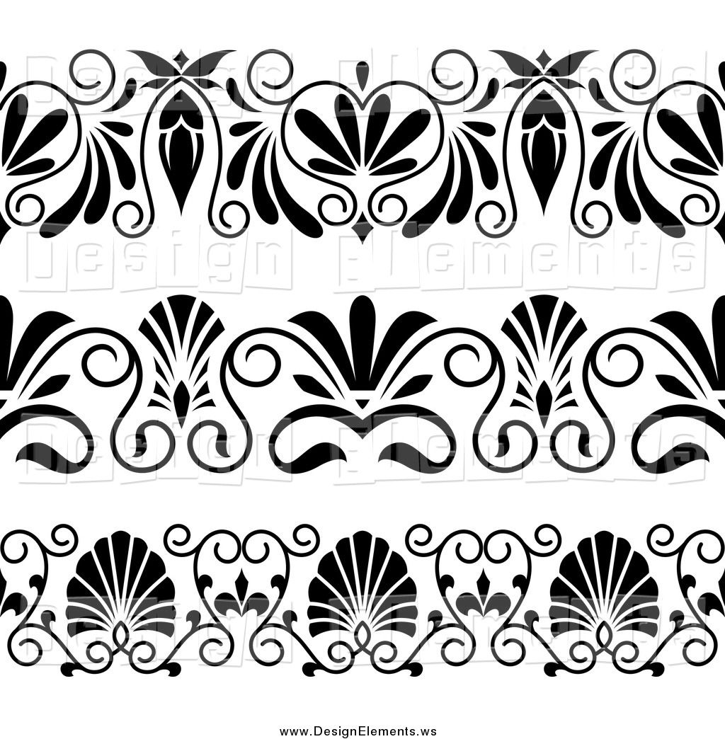 Art Deco Design Elements | ... Black And White Art Deco Rule Design Elements