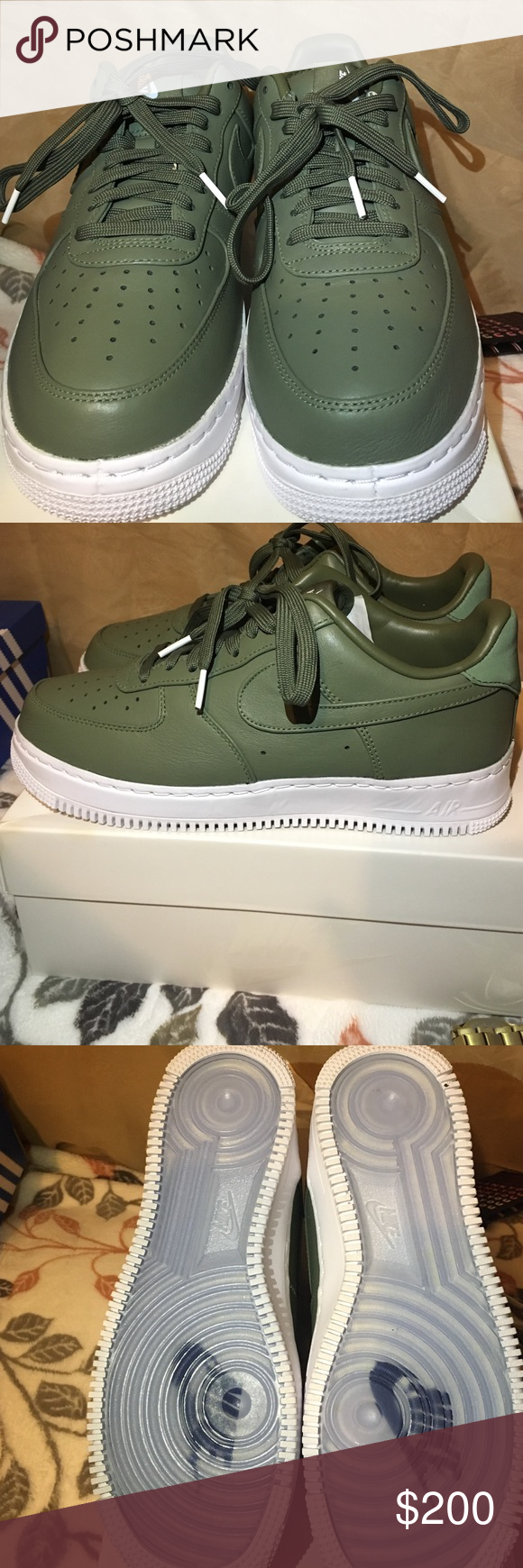best sneakers e13e8 c3ee9 Nike Air Force One Brand new, never worn. Size  8 Men, 10 Woman Color  Olive  Green Nike Shoes Sneakers