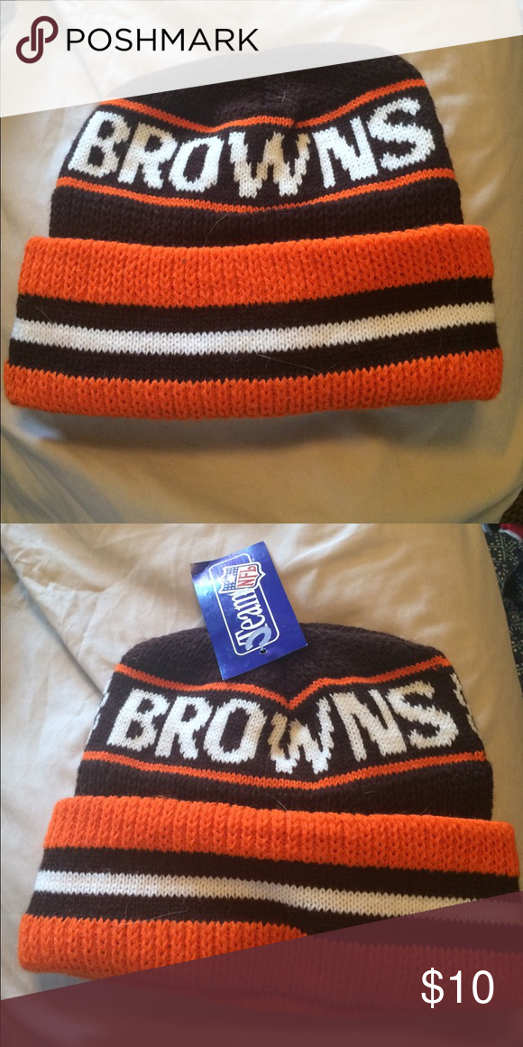 391cf35c83a NWT Browns Winter Hat New with tags NFL Team hat! Support your team!  Cleveland Browns hat! Warm and comfy! One size. Accessories Hats