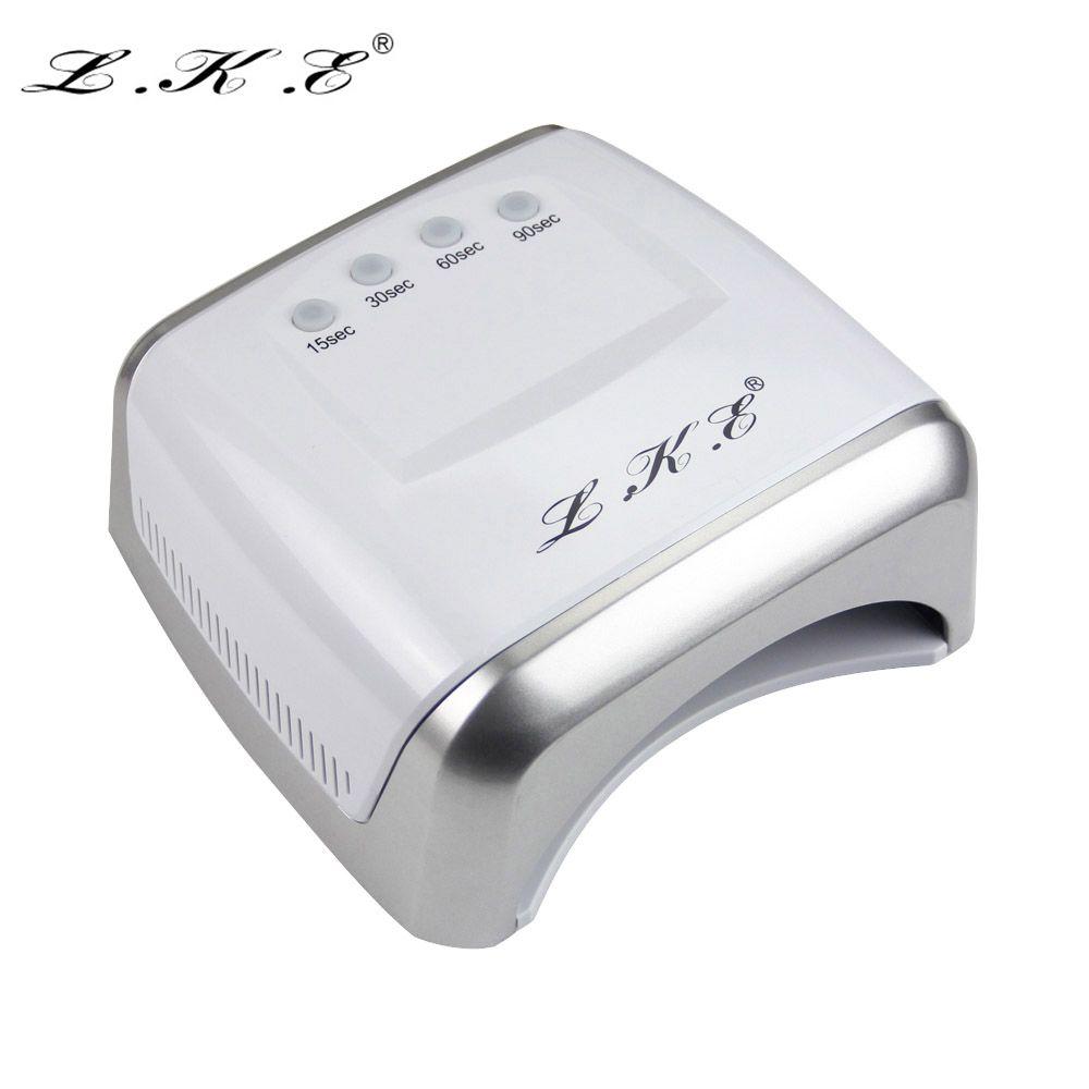 LKE 60W White LED UV Lamp Nail Dryer 365-405nm Gel Polish Curing ...