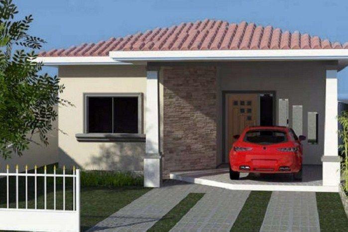 Fachadas simples de una planta peque as fachadas de for Fachadas de casas pequenas de una planta