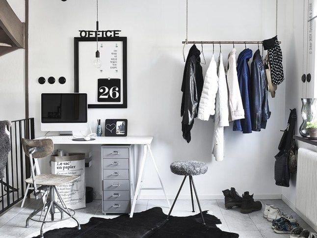 Un bureau en noir et blanc planete deco a homes world