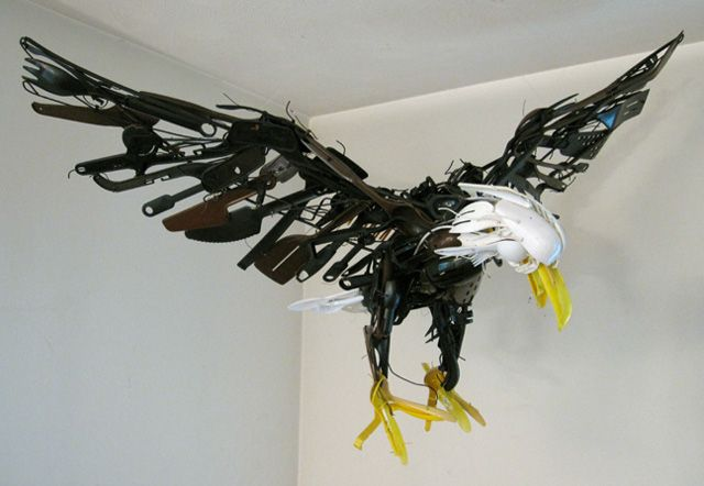 Animal Sculptures Made from Reclaimed Household Objects