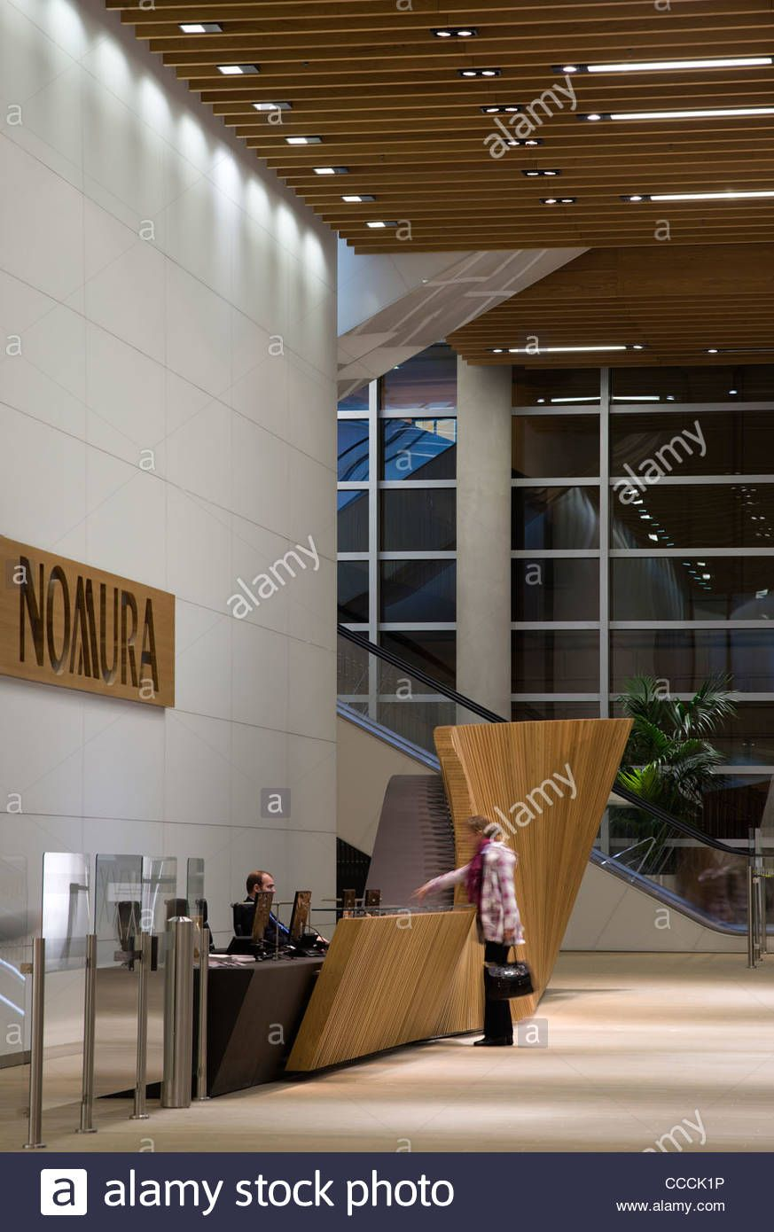office entrance design. Stock Photo - Office Entrance Lobby To Watermark Place, Occupied By Nomura. Architecture Fletcher Priest And Lighting Design Waterman