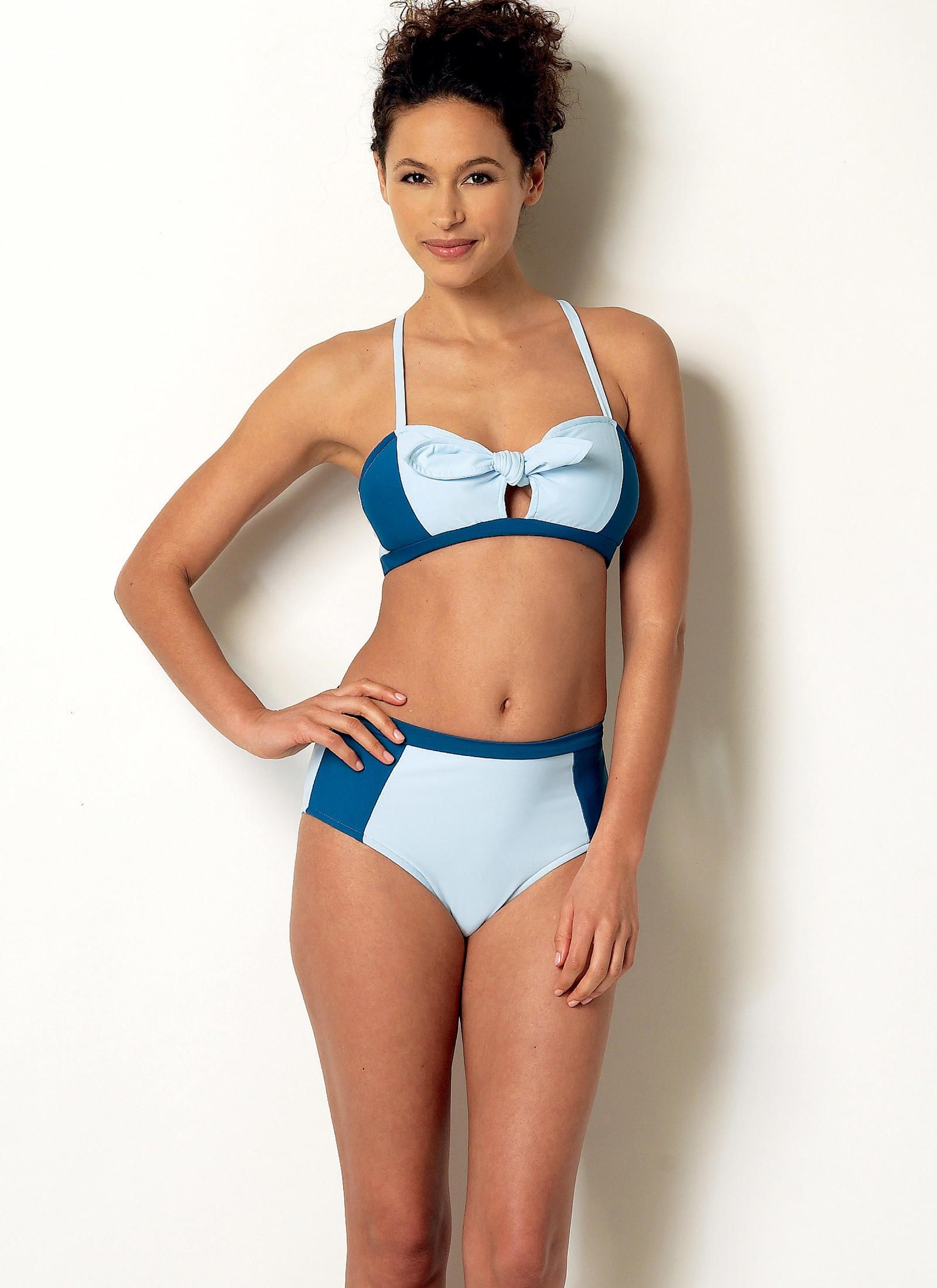 Butterick 6358 Misses\' Tie-Detail Bikini and One-Piece Swimsuit