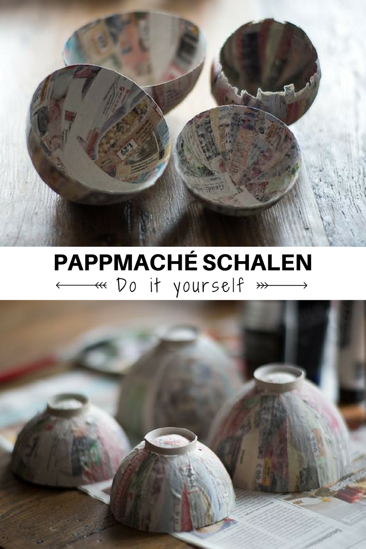 DIY - Pappmachè-Schalen aus Altpapier * Alt trifft Neu #christbaumschmuckbastelnkinder
