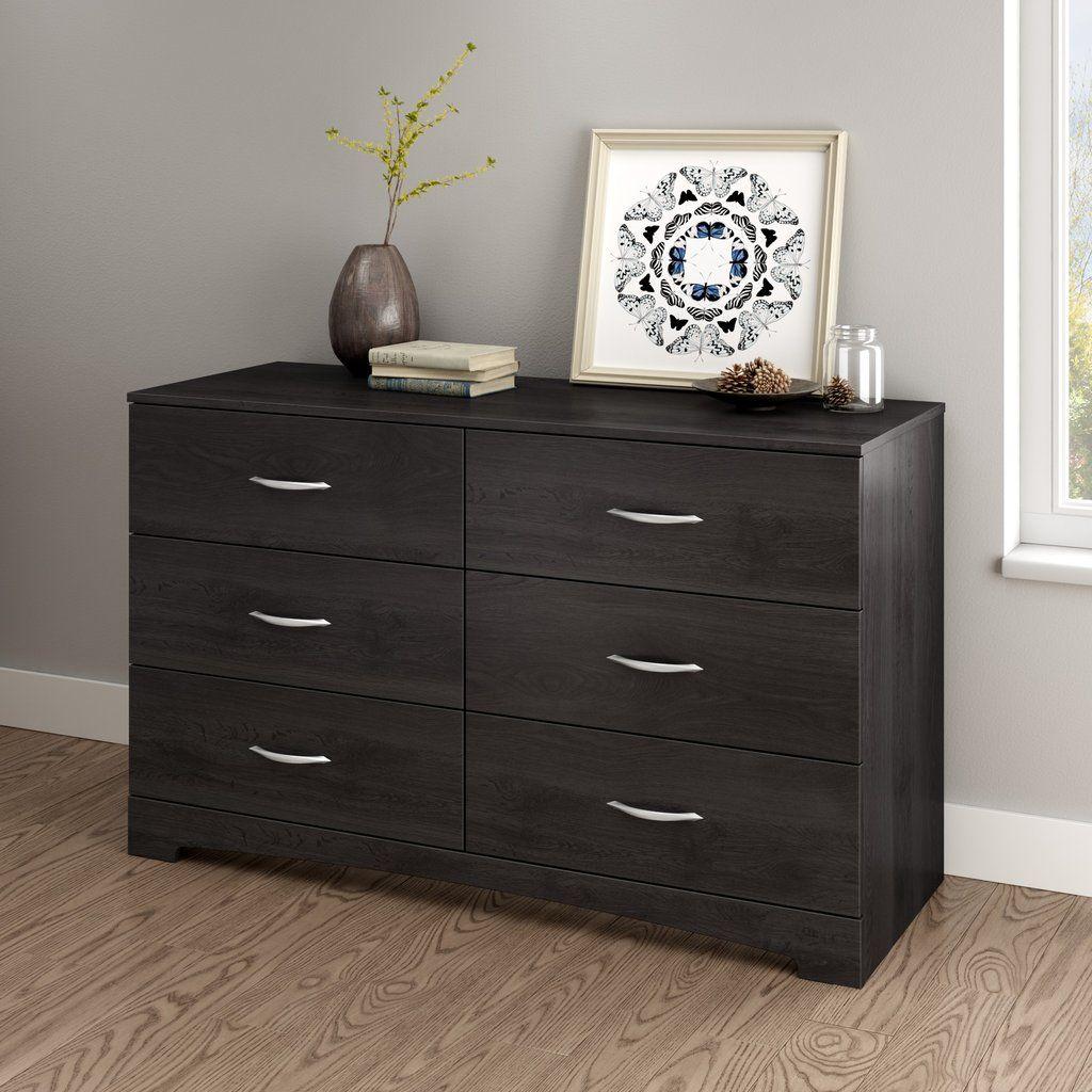 8 drawer double dresser grey