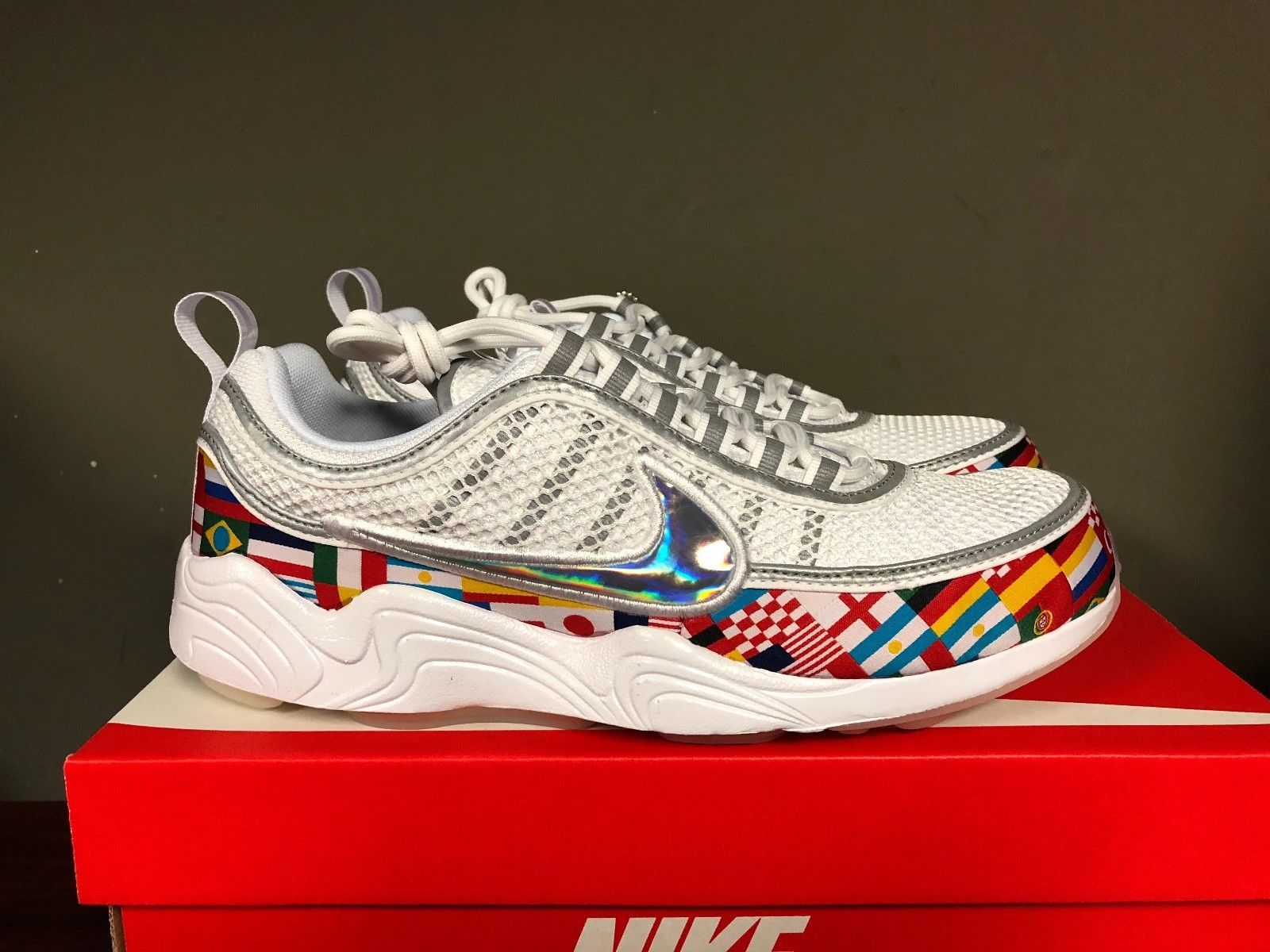 710dca434508 NIKE AIR ZOOM SPIRIDON 16 NIC Flag White Multi World Cup AO5121-100 NEW  2018 Discount Price 199.99 Free Shipping Buy it Now