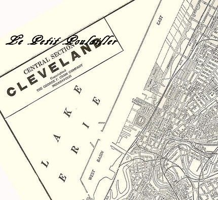 Cleveland Ohio USA Engraved City Map In My Shop Now - Usa map cleveland