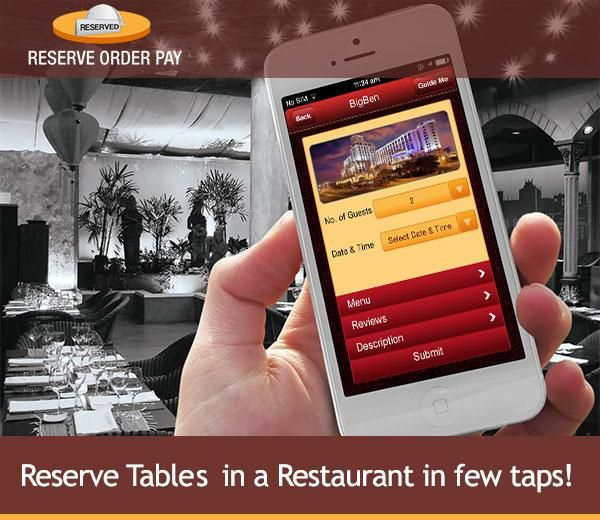 ROP A Combination Of Restaurant Finder App Table Reservation App - Table reservation app