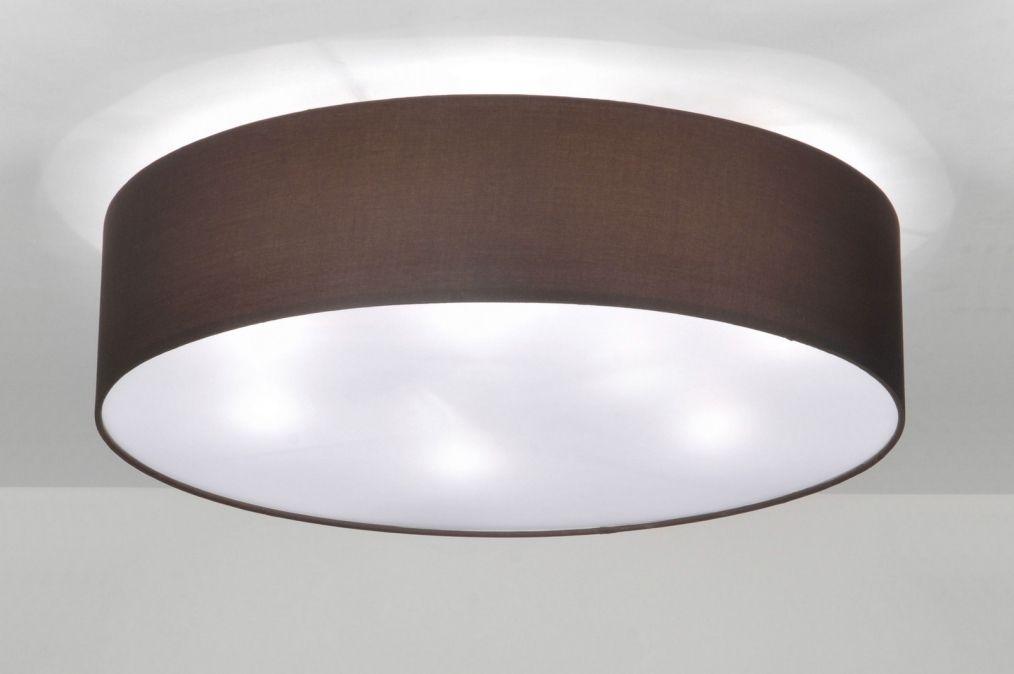 Plafondlampen Voor Slaapkamer : Plafondlamp modern metaal stof bruin idee voor keuken