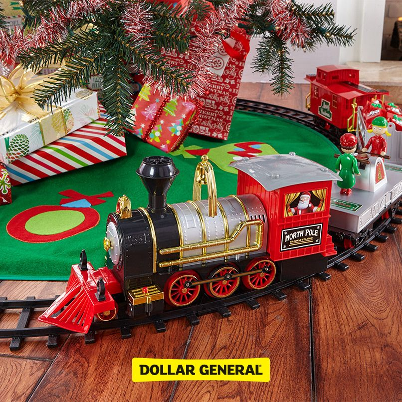 find toy trains tree skirts and more at your local dollar general