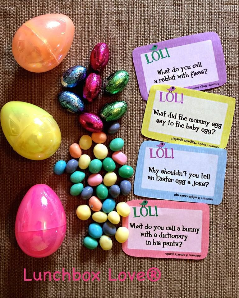Filling eggs for my daughter's Easter basket with candy and Lunchbox Love joke cards! I love this Elizabeth! The colors, the cards, the candy. Thanks for sharing! You're daughter is so lucky. Free Easter Printables here-> http://www.sayplease.com/lunchbox-love-printables-signup #easter   #free #printables