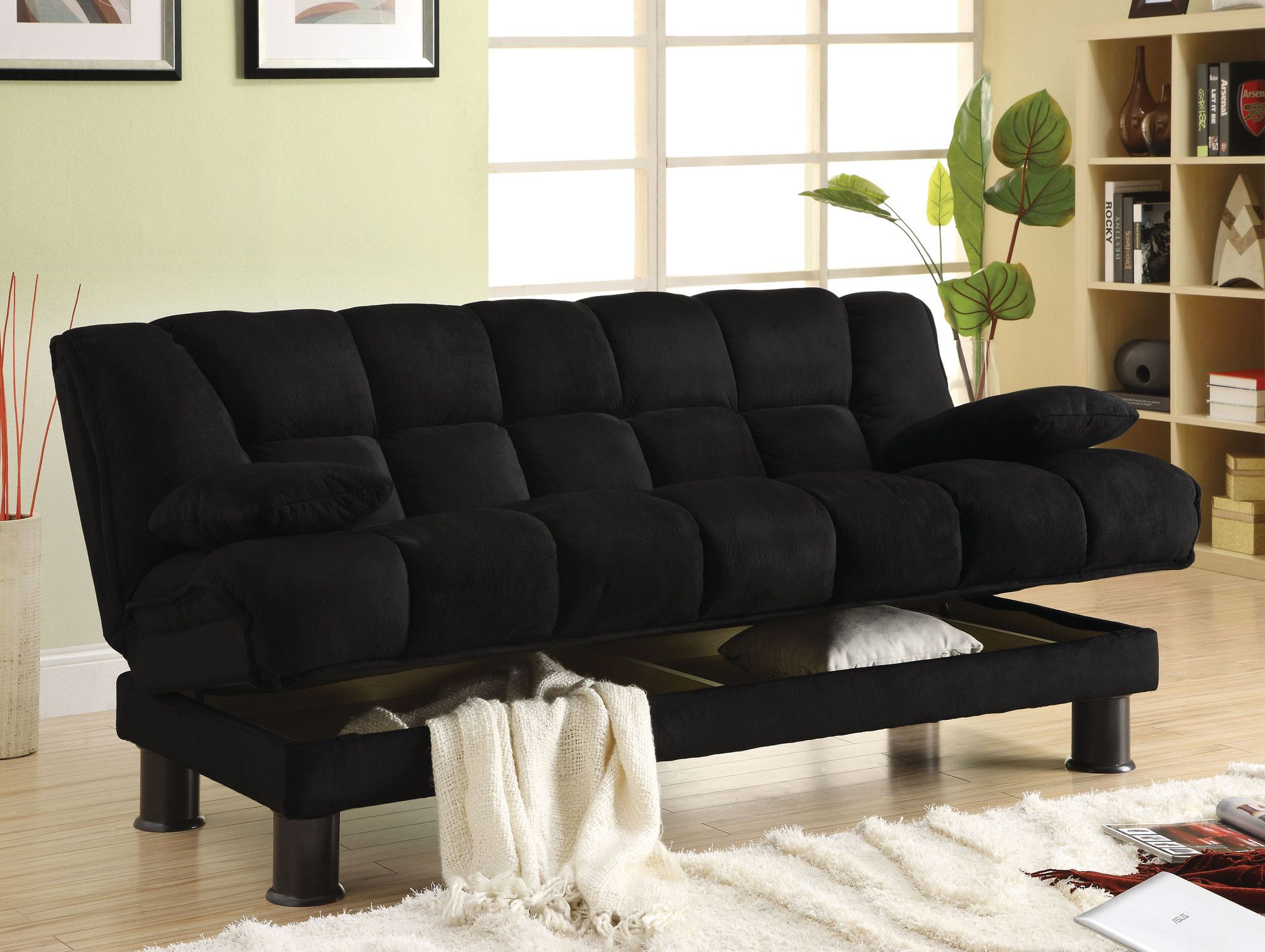 Sofa Mart Hokku Designs Solar Storage Sleeper Sofa AllModern