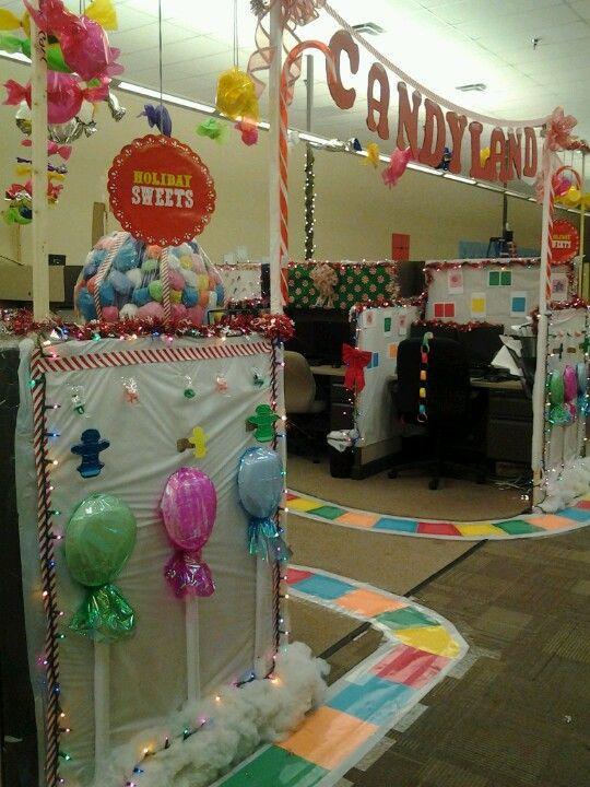 Candyland at work candyland pinterest candyland for Cubicle theme ideas
