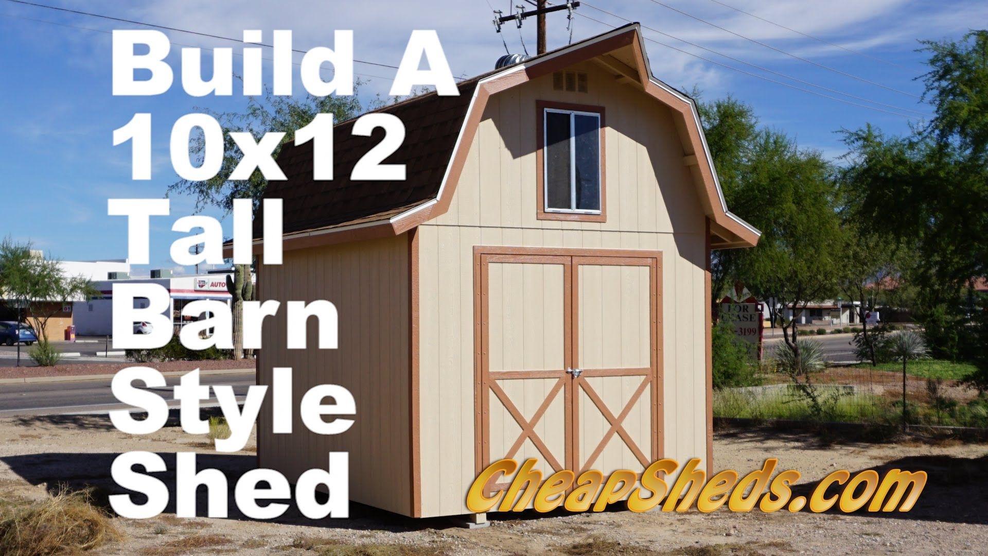 Build A 10x12 Tall Barn Style Shed With Loft Shed Shed Plans Building A Shed