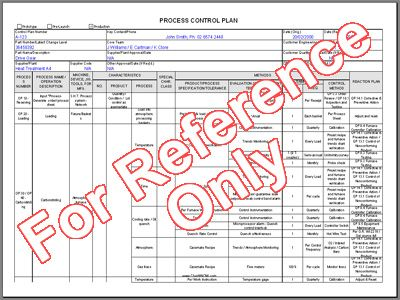 Process Control Plan Template  Good To Know    Template
