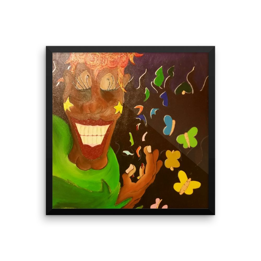 The Joker Framed photo paper poster
