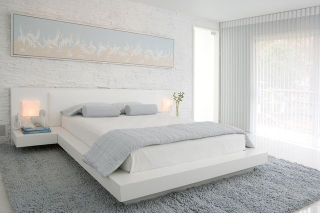 Beautiful Chambre A Coucher Gris Et Blanc Photos - Design Trends ...
