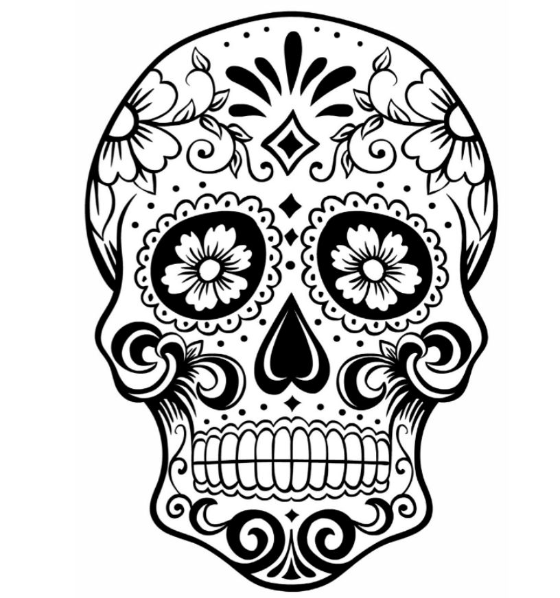 Mexican Sugar Skull Coloring Pages Skull Coloring Pages Free Coloring Pages Coloring Pages