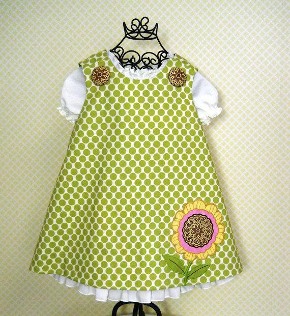 Reversible Aline Jumper Dress Pattern PDF Sewing Pattern 6M-6CH ...