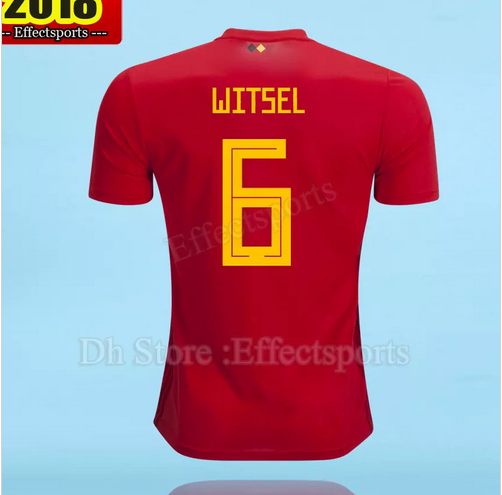 37a8e355f24 #Belgium 2018 #World Cup Home red top Thailand Quality #WITSEL #6 #Soccer # Jersey
