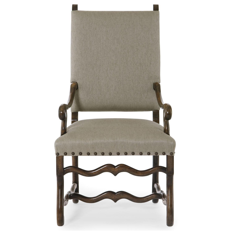 Bernhardt Vestige Upholstered Arm Chair in linen Allspice finish