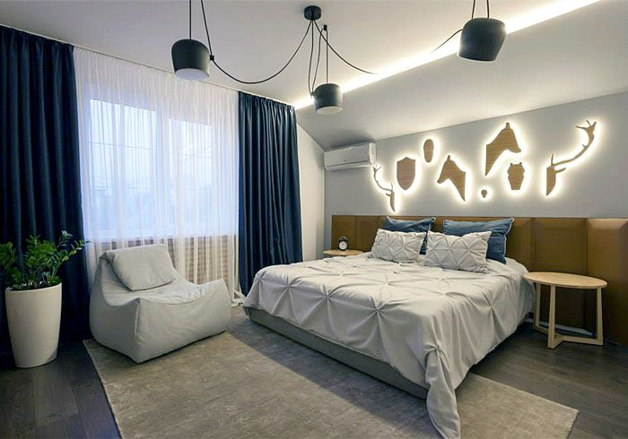 Fresh Design Of Modern Urban Home By Svoya Studio Contemporary Bedroom Design Contemporary Bedroom Stylish Bedroom