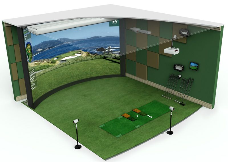 Hd Golf Curvedscreen Golf Simulator Executive Model