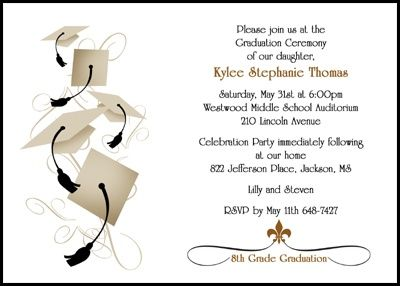 Graduation announcements and invitations for 8th grade w cap and graduation announcements and invitations for 8th grade w cap and tassel this eighth grade graduating announcement invitation card as low as 79 filmwisefo