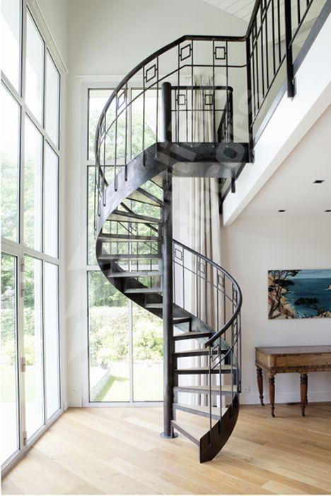 Photo DH94 - SPIR\u0027DÉCO® Caisson Escalier intérieur métal et bois