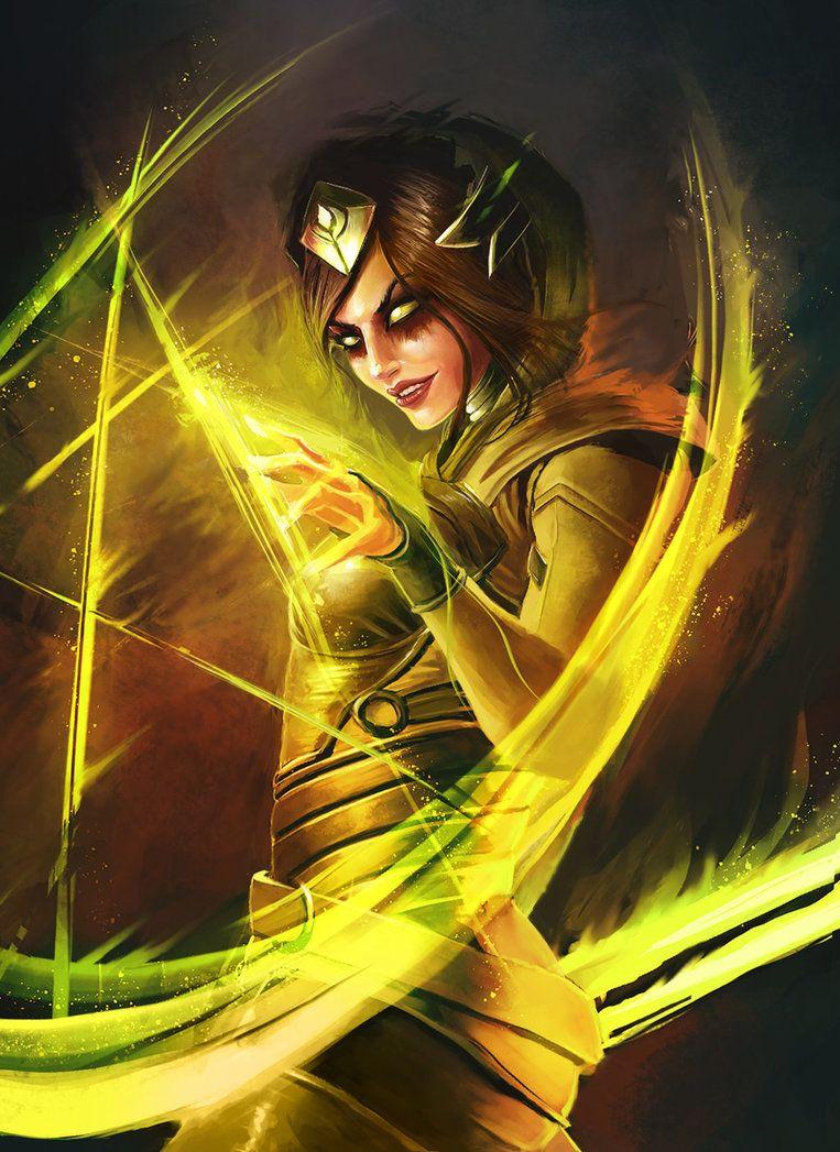 Injustice 2 Enchantress Magia Dc Vilas Militares