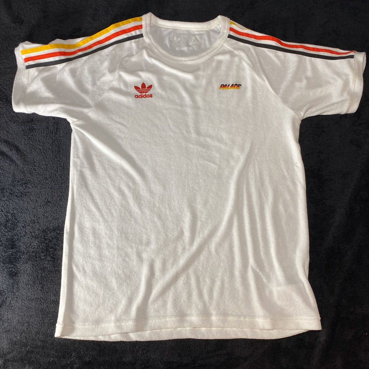 Palace Adidas Terry T Shirt White Red Striped Shirt Shirts White White Adidas [ 1200 x 1200 Pixel ]