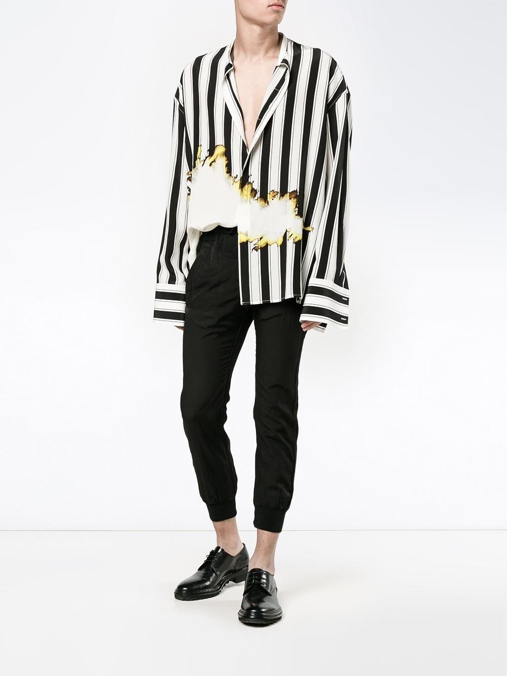 bb8e613256 HAIDER ACKERMANN bleach and stripe print shirt £1,165 | Casual Suits ...