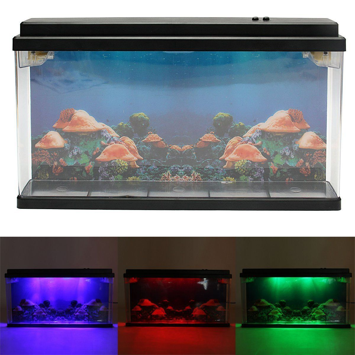Caveen moving jelly fish tank with led lights d backing fantastic