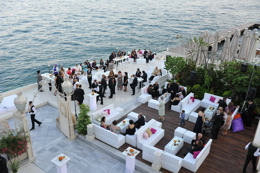 Coctail Hour Just Before The Wedding At Sait Halim Pasa Mansion Istanbul Bosphorus