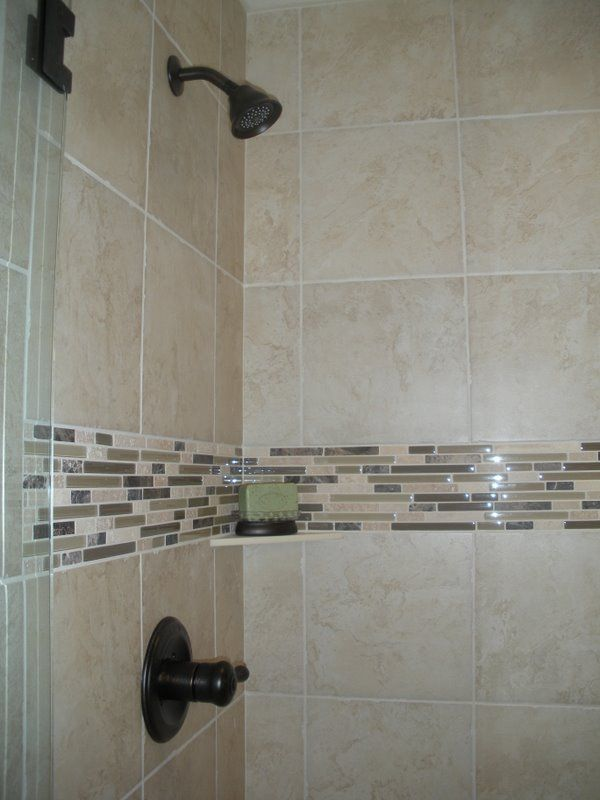 Awesome For This Shower, I Used Pretty Inexpensive 12x12 Tiles And Added Bliss  Linear: Cappuccino