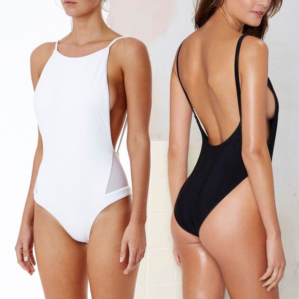 f96bbf1bd2 Womens Brazilian One Piece High Cut Backless Monokini Bikini Swimsuit  Swimwear Sexy Bandage Bikini Set Push Up Padded Top Swimsuit Swimwear  Bathing ...