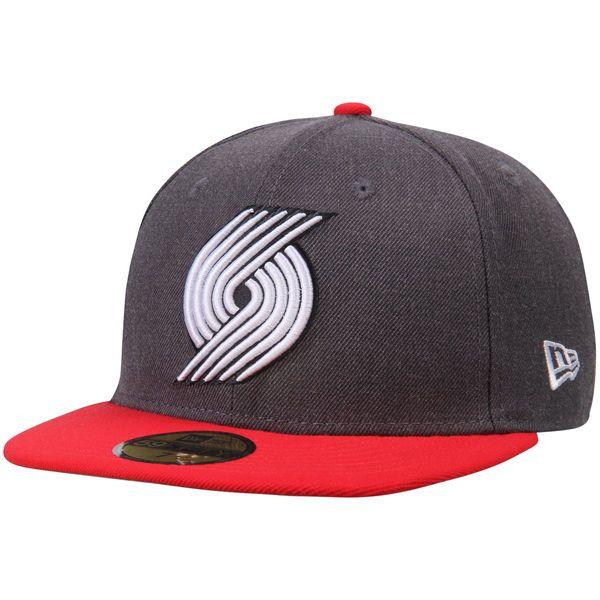 Portland Trail Blazers New Era Shader Melt 2 59FIFTY Hat - Heathered Gray/Red - $34.99