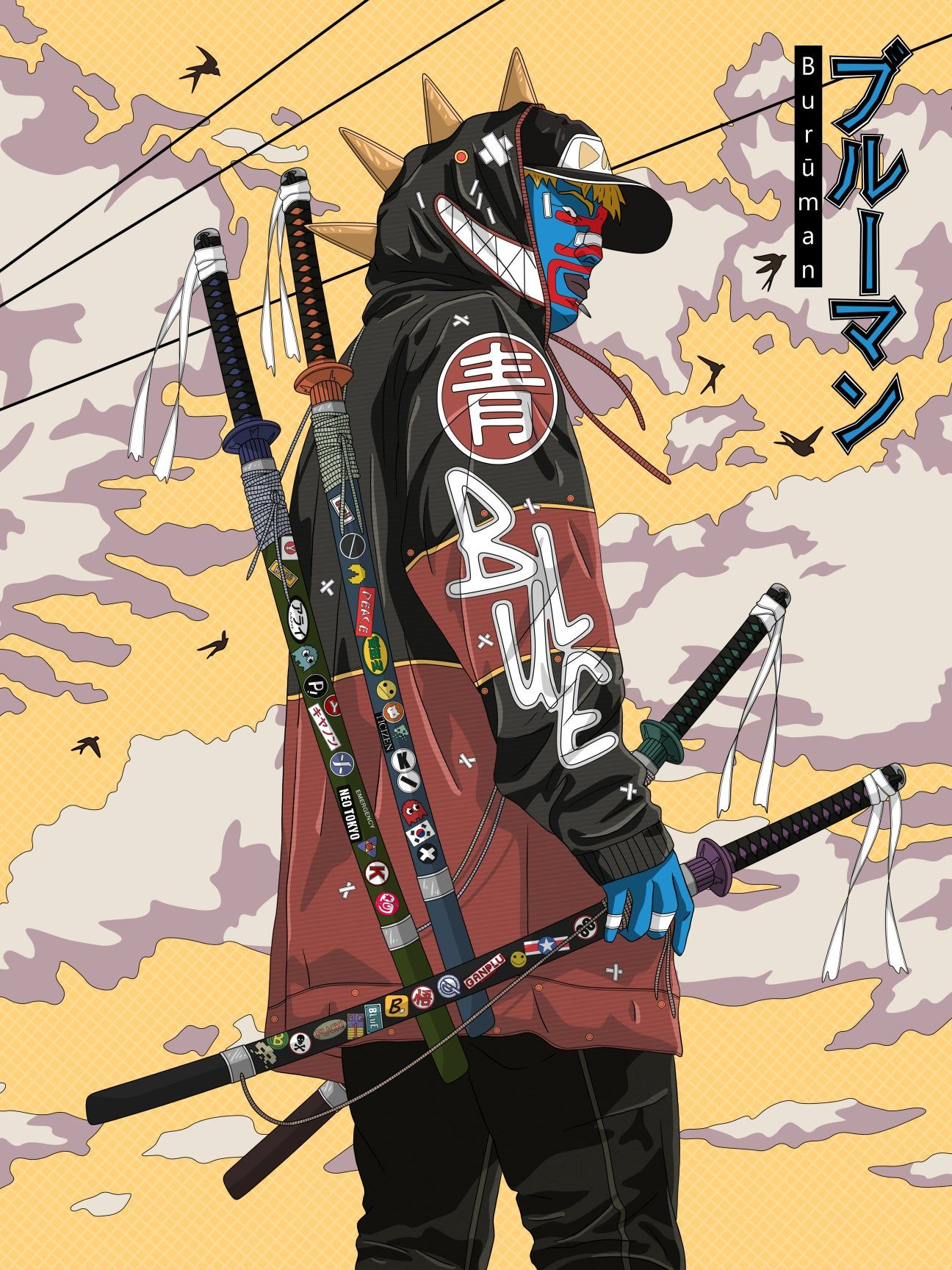Urban Samurai 2020 Buruman Series I P Lobato In 2020 Samurai Artwork Samurai Art Concept Art Characters