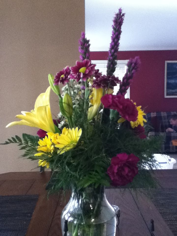 beautiful flowers. in memory of my grandad