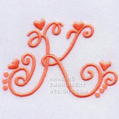 Amazing embroidery designs letter k k pinterest design letters amazing embroidery designs letter k spiritdancerdesigns Choice Image