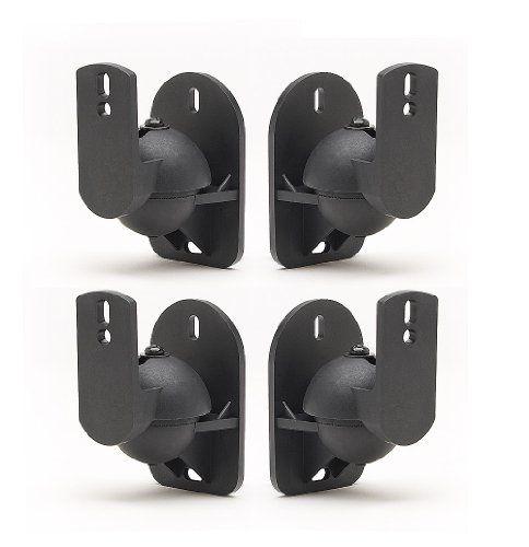 4 Surround sound speaker brackets Wall mount for Bose Set of 4 black brackets