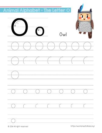 tracing letter o with owl alphabet worksheets worksheetskids tracing letters alphabet. Black Bedroom Furniture Sets. Home Design Ideas