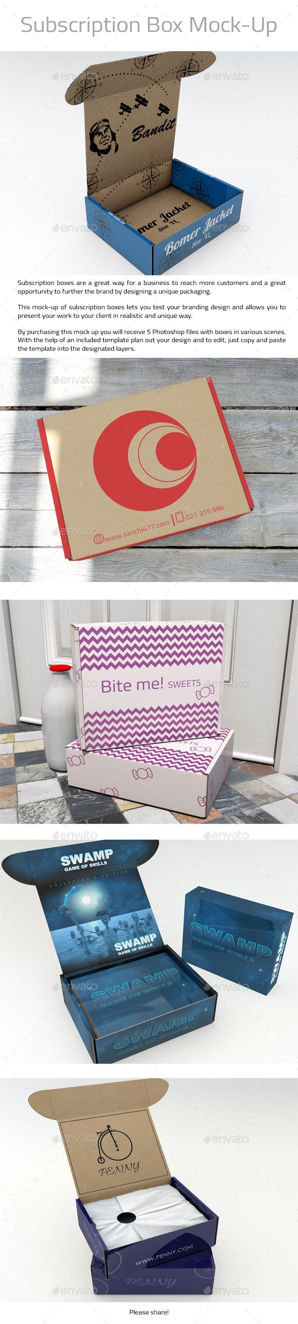 Pin By Best Graphic Design On Mockup Box Packaging Templates Subscription Bo