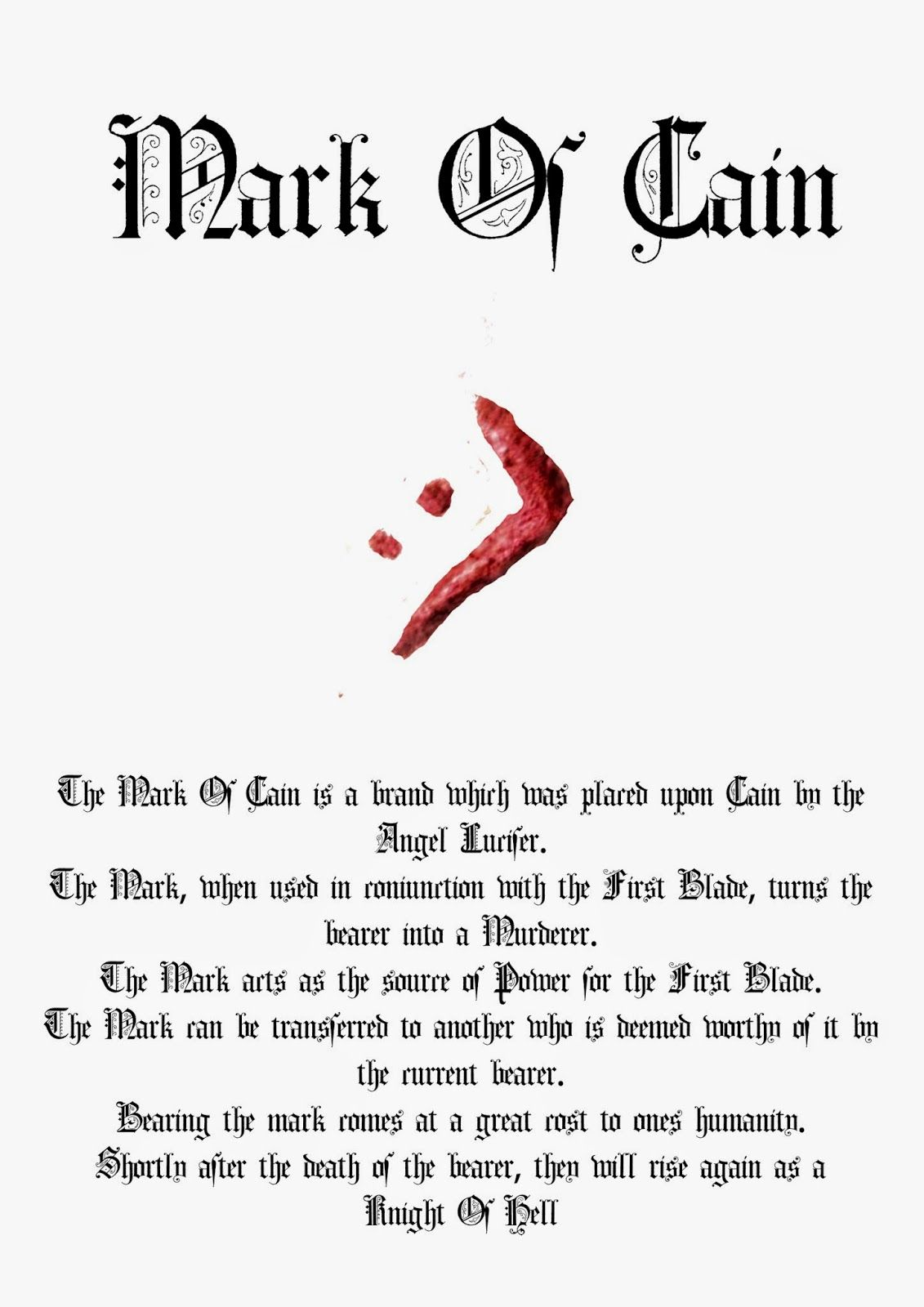 The First Blade The Mark Of Cain Are From Season 9 Of Supernatural